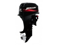 6-Mercury 40hp ELPTO 2 Stroke, Electric Start, Long Shaft 20ins, Power Trim, Oil Injection